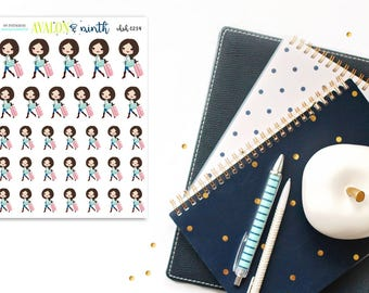 Travel Girl // Planner Stickers // CHSH