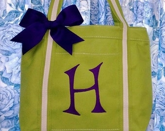 Personalized Flower Girl Tote Bag Flower Girl Bag Monogrammed Tote Bag