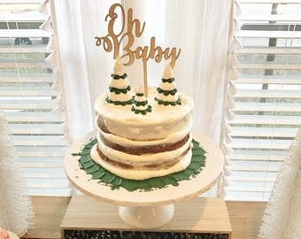 Oh Baby cake topper, baby shower cake topper, birthday party decor
