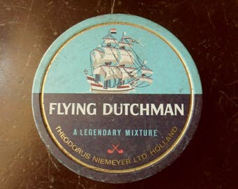 Flying Dutchman Tobacco Tin, 50s Pipe Tobacco Can