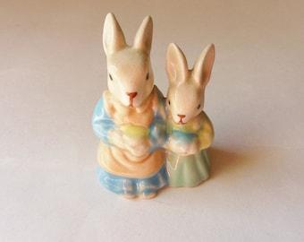 Bunny Figurine, Momma and Baby Rabbits