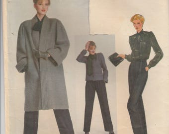 Yves Saint Laurent Coat, Jacket, Blouse & Pants Pattern Vogue Paris Original 2272 Size 10 Uncut