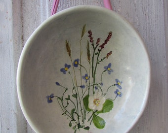 Salt March Pottery Dartmouth MA April Road side bowl wall hanging