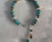 Reserved for Jennifer,  ocean jasper bracelet with silver/Swarovski accents,  ready to ship, free shipping,  custom jewelry,  made in MT