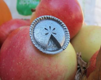Pie Lapel Pin - CC266- Baking Pins- Baker Gifts- Apple Pie