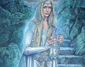 Tolkien print - Galadriel - The Lord of the Rings  - unique gift for any J R R Tolkien fan