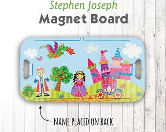 Travel Magnet Board, Princess Castle, Personalized Magnetic Play Set, Stephen Joseph Magnetic Play Set, Travel Game, Portable Game