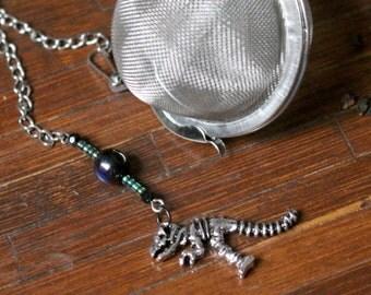 Bones the T-Rex Beaded Mesh Tea Ball Infuser