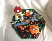 CUSTOM ORDER for CYNTHIA: Handmade Crochet Enchanted Forest Play Mat, Pretend Play