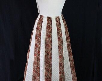 40%OFFSALE 70s Chessa Davis Patchwork Maxi Skirt Quilted Velvet Lace Gypsy Hippie Boho