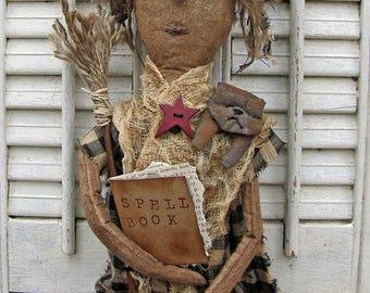 Primitive Witch Pattern, Primitive Dolls, Craft Patterns