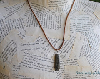 Necklace for men - natural jewelry - unique necklace - organic -river stone -zen