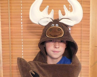 Moose Hooded Towels - Free Personalization