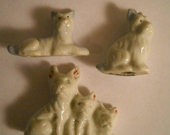 Vintage White Dog Figurines, China Dog Family Figurines, Made in Japan, Little Dogs , Mother Dog and Puppies, Dog Lover