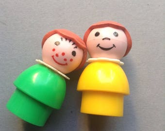 Fisher Price Little People, 'Best Friends', set of 2 girlss, original, collectible, vintage toys, retro toys, Greece