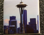 "Magnet  Space Needle  1.75"" x 1.75"""