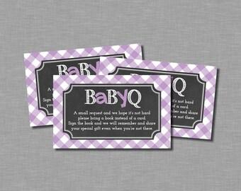 Baby Q Bring a book girl purple Tatum BB11 Printable - Instant Download