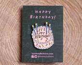 4 Pins - It's My Birthday Enamel Pins