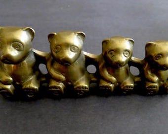 Vintage Brass BEARS Bring Smiles