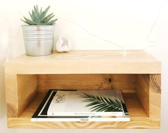 Floating Nightstand // Bedside Table // Nightstand // Live Edge Shelves // Part 23