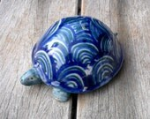 Turtle , Ceramic Tortoise , Animal Sculpture, Fine Art Ceramics