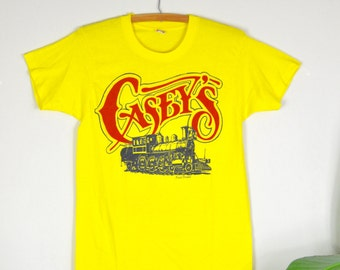 70s 80s Casey's tee / vintage screen star paper thin t-shirt