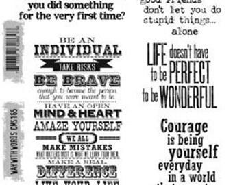"""TIM HOLTZ®  Stampers Anonymous Stamp Set - """"Way With Words"""""""