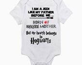 Game of Thrones  Harry Potter Star Wars Onesie / Harry Potter Onesie / Baby Shower Gift / Star Wars Game of Thrones Harry Potter Bodysuit