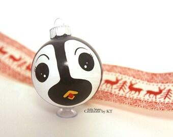 Penguin Glass Ornament MADE TO ORDER Christmas Hand Painted Bauble Glass Ball Winter Animal Penguin Gift Kawaii Animal