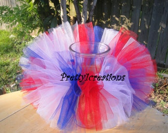 baby tutu, patriotic tutu, 4th of july, memorial day, tutu, red white and blue, newborn tutu, girls tutu, fourth of july,