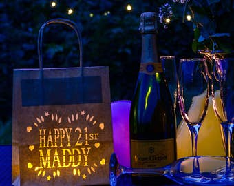 Happy 21st Birthday Lantern Bag- perfect 21st party decoration