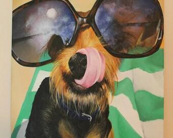 Custom Yorkie Pet Portrait