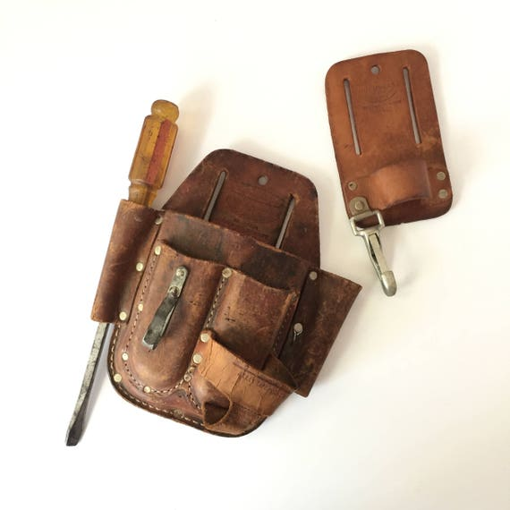leather tool pouch vintage craftsman and nicholas tool