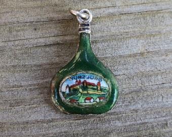 Unusual Vintage Wurzburg Germany Enamel Travel Charm