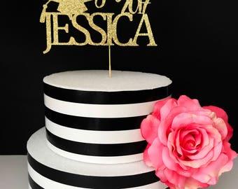Custom Graduation cake topper- celebratory cake topper- congrats cake topper
