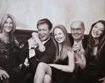 Family Painting - Custom Painting from Photo - Photo to Painting - Family Portrait