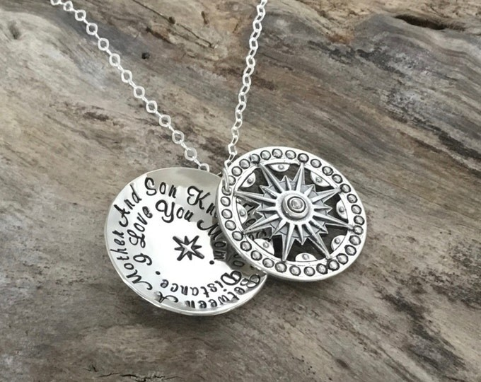 Mother Son Necklace | Long Distance | Mother Son Gift | Gift for Mom from Son | Sterling Silver | Mother Son Jewelry | Mothers Day Gift