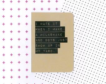 Milkshake lyrics notebook