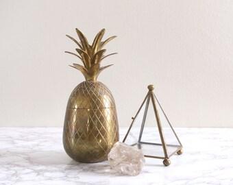 Vintage Brass Pineapple Jar Container