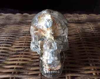 Skull, Dendritic Agate, Weight approx 9 ounces, Growth, Perseverance, and Abundance