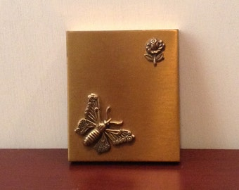 Brass Photo Frame Compact Vintage Mid Century