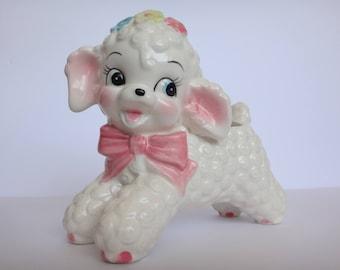 Adorable! Vintage Rubens Originals Japan 598 Ceramic Lamb Planter Mid Century Nursery