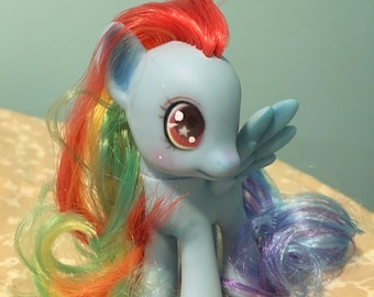 Rainbow Dash custom repaint doll