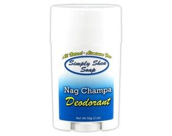 Natural Aluminium Free Deodorant Nag Champa Scent