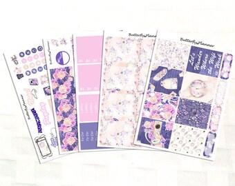 Travel Girl Planner Sticker Kit, Vinyl Stickers, European Vacation, Backpacking, Erin Condren Sized