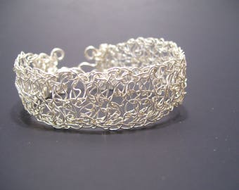Sterling Silver Wire Wrapped Cuff Bracelet
