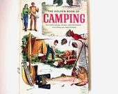 camping book, the golden book of camping, golden books, vintage, 1971, william hillcourt