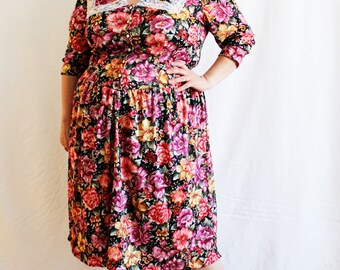 Plus Size Vintage Purple Velour Paper Bag Waist Maxi Skirt