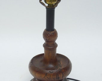 SALE - Antique French Candlestick Lamp