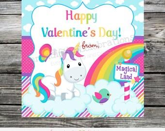 Instant Download, Printable Valentine Cards, Unicorn Valentine's Day Cards, Classroom Cards, Valentine's Day, Kids Valentine Cards, DIY